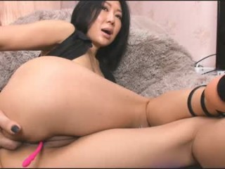 alexa_asian Spicy doing cumshow secretary with glasses and fishnets toying her muff in the office