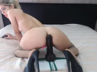 lady_anal Tempting blonde cumshow via cam with large tits jumping a massive phallus