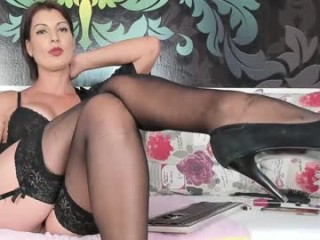 playfullangelica Glamorous doing cumshow honey in fishnets riding a massive dildo