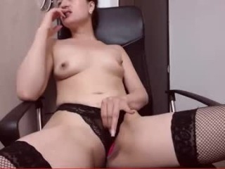 bluemoonsexy Perky titted blonde cumming fingering her round butt hard