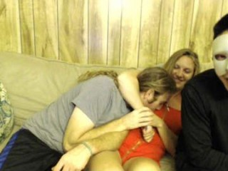 biancaandhubby Raunchy blonde cumshow seductress riding a massive dick on the couch