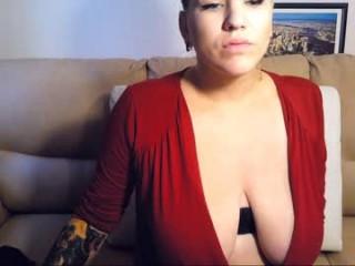 xfunfiestax Divine breasted cummed slut licking a giant cock head