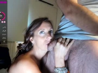 king7045 Ponytailed cummed whore licking a monster prick in the bathroom