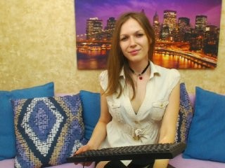 anabelovea Pig-tailed online squirting chick showing her breasts and toying her booty