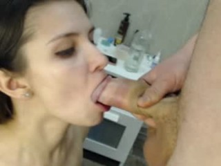 anyandmax Tempting brunette squirting young babe Olympia suck and ride a thick schlong
