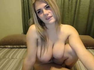 miss_alison Beautiful blonde cumming in pigtails Trinity gives blowjob and gets pink shaved pussy fucked hard