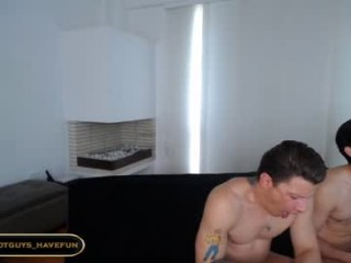 hot_guys_have_fun Radiant cummed camgirl Jana Bul slurping a giant shaft for fresh cum