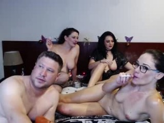 kendracam69 Big titted brunette cumming Chantal getting pussy and asshole fucked by a large prick